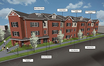 Senior Lofts Rendering