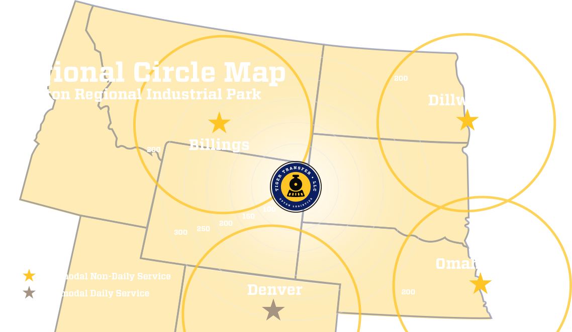 Regional Circle Map, Upton Regional Industrial Park