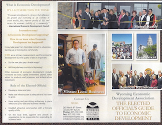 Thumbnail Image For Elected Official's Guide to Economic Development Brochure - Click Here To See