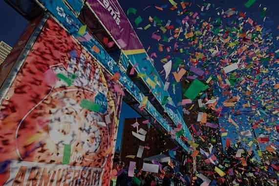 confetti at community event