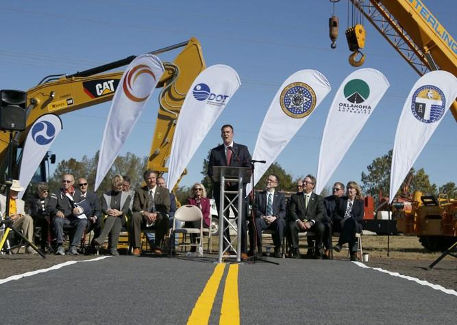 Officials break ground on west leg of Gilcrease Expressway Main Photo