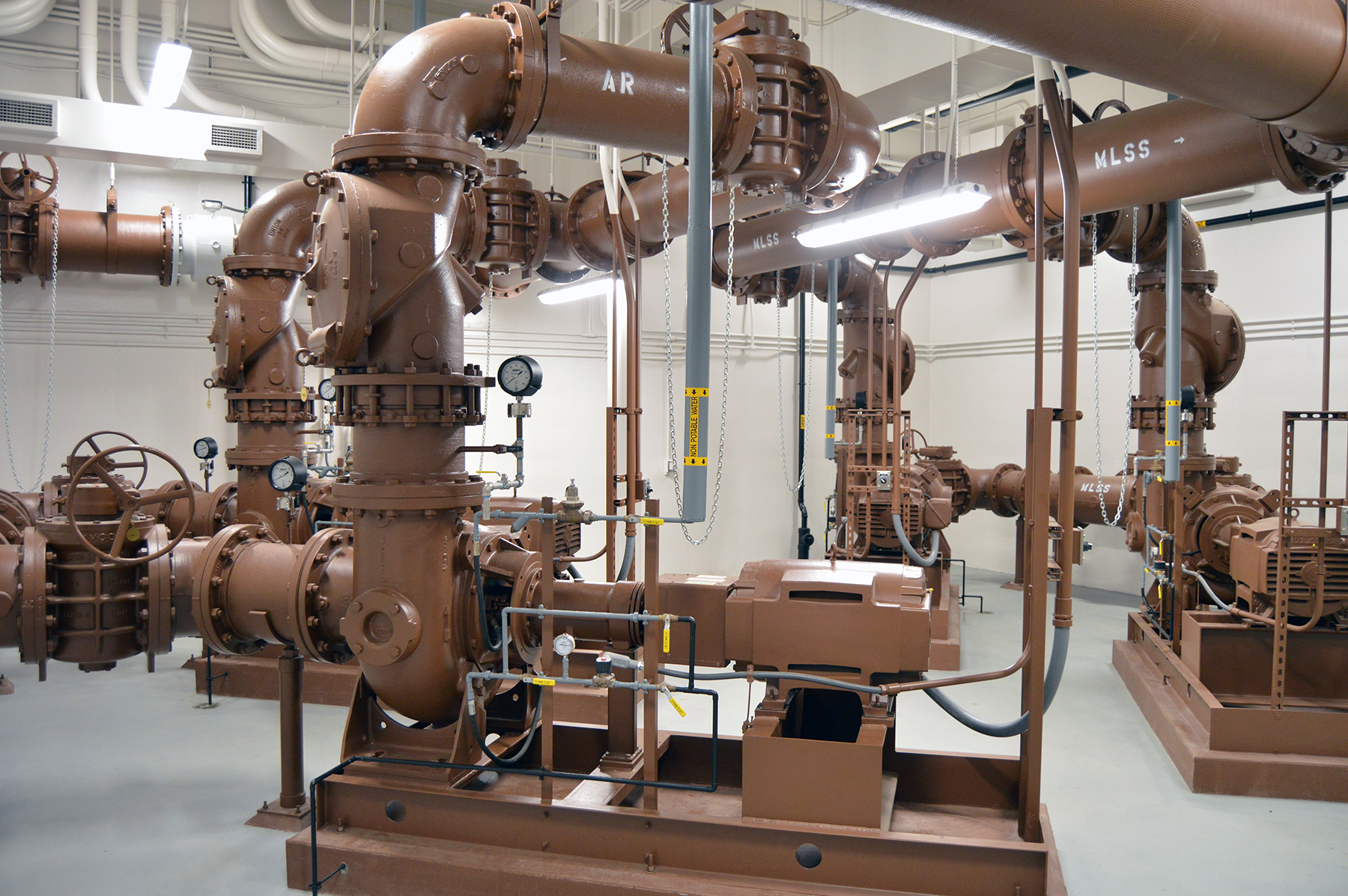Click the Upgraded Wastewater Treatment Plant Fully Online Slide Photo to Open