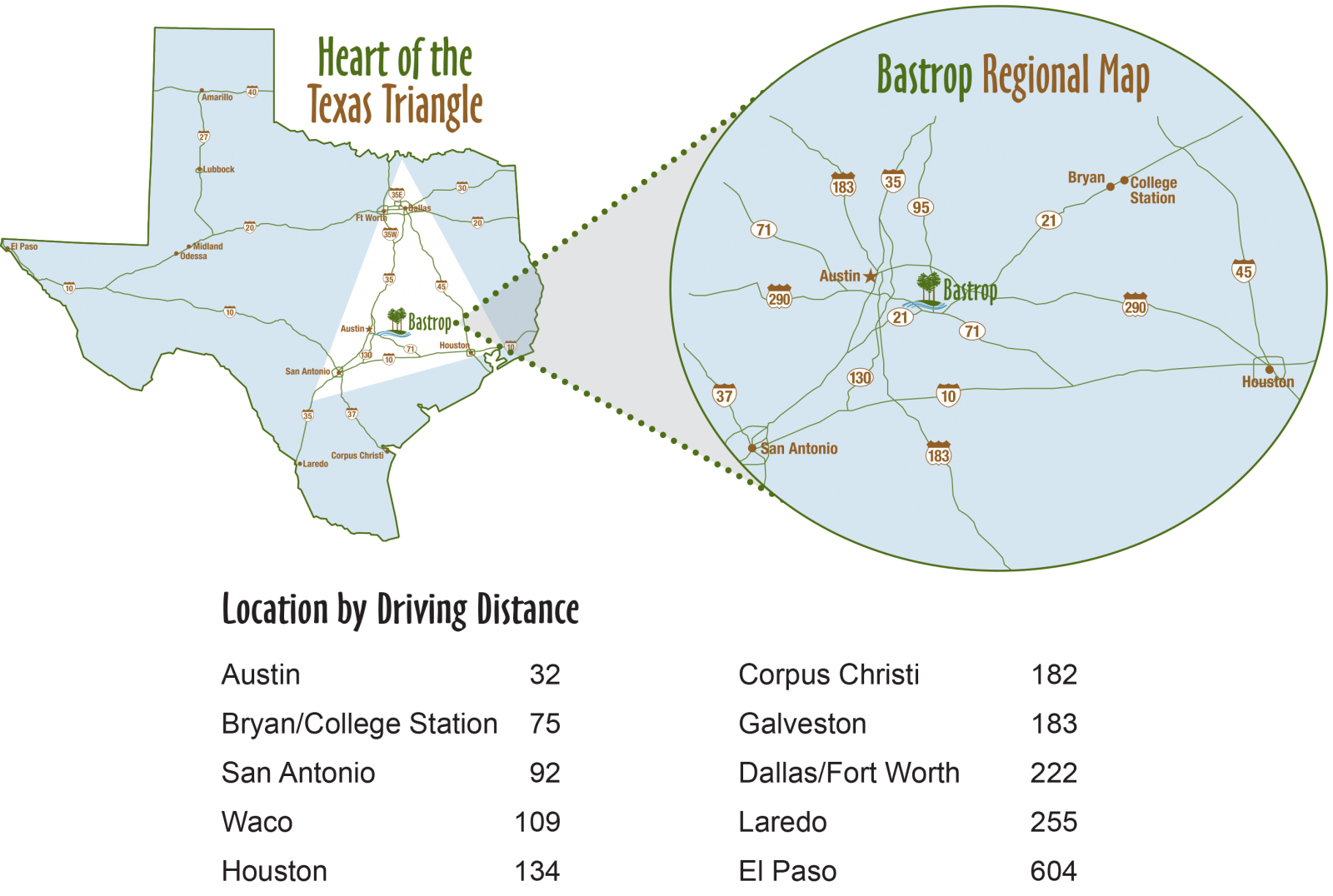 texas triangle map