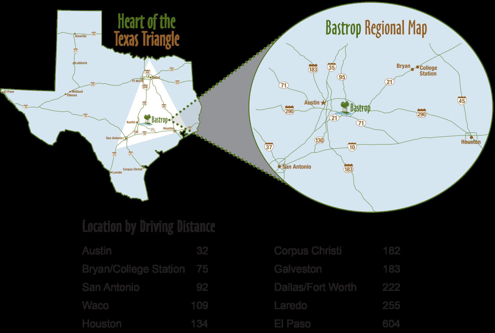 texas triangle map