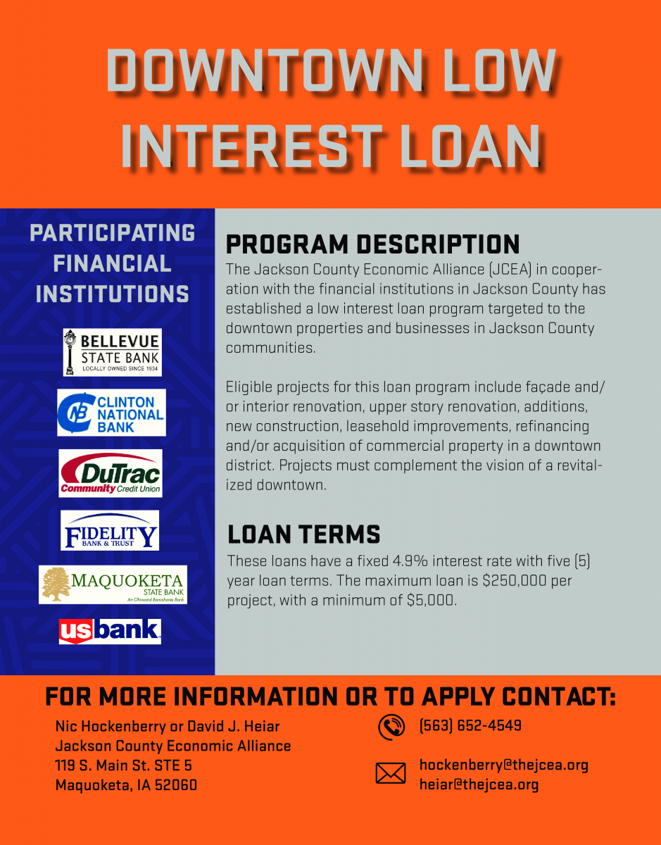 Thumbnail Image For Downtown Low Interest Loan Program - Click Here To See