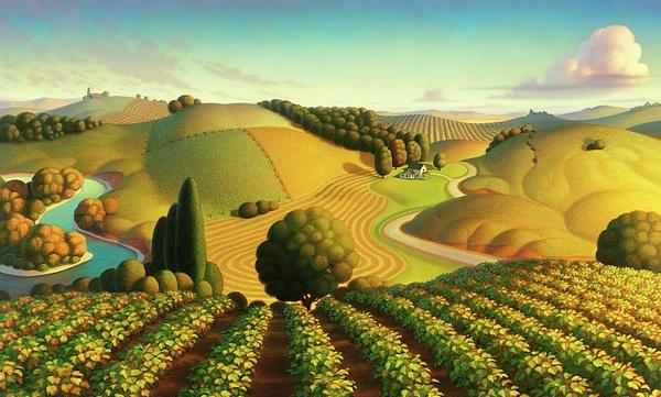 cultural vitality landscape illustration