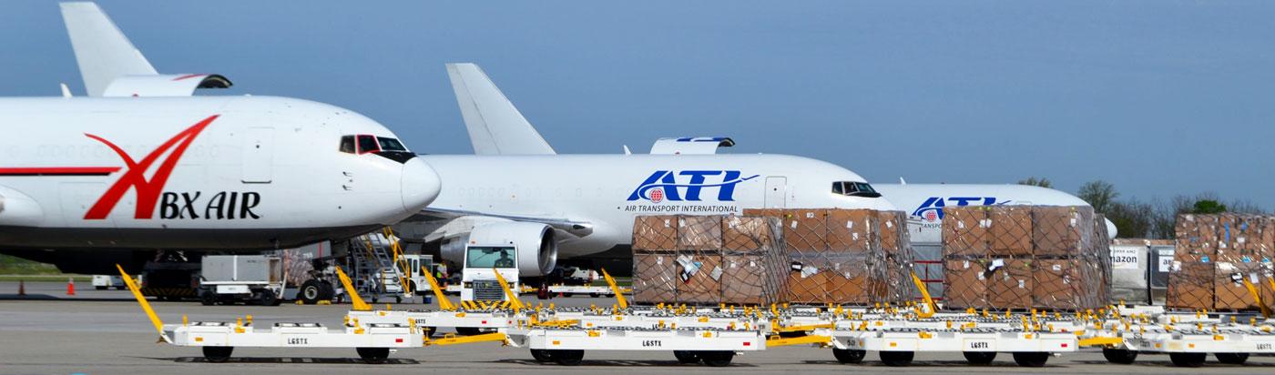 loading cargo planes