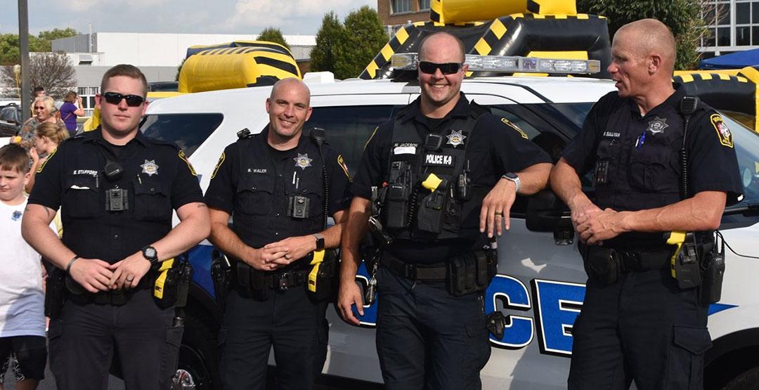 police having fun