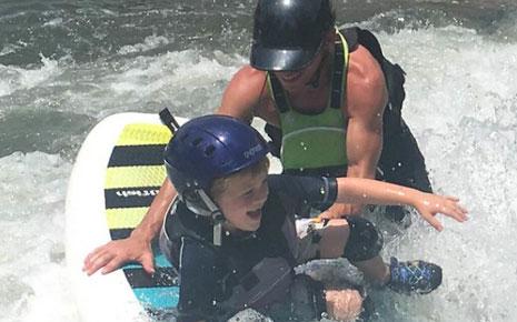 kid in kayak