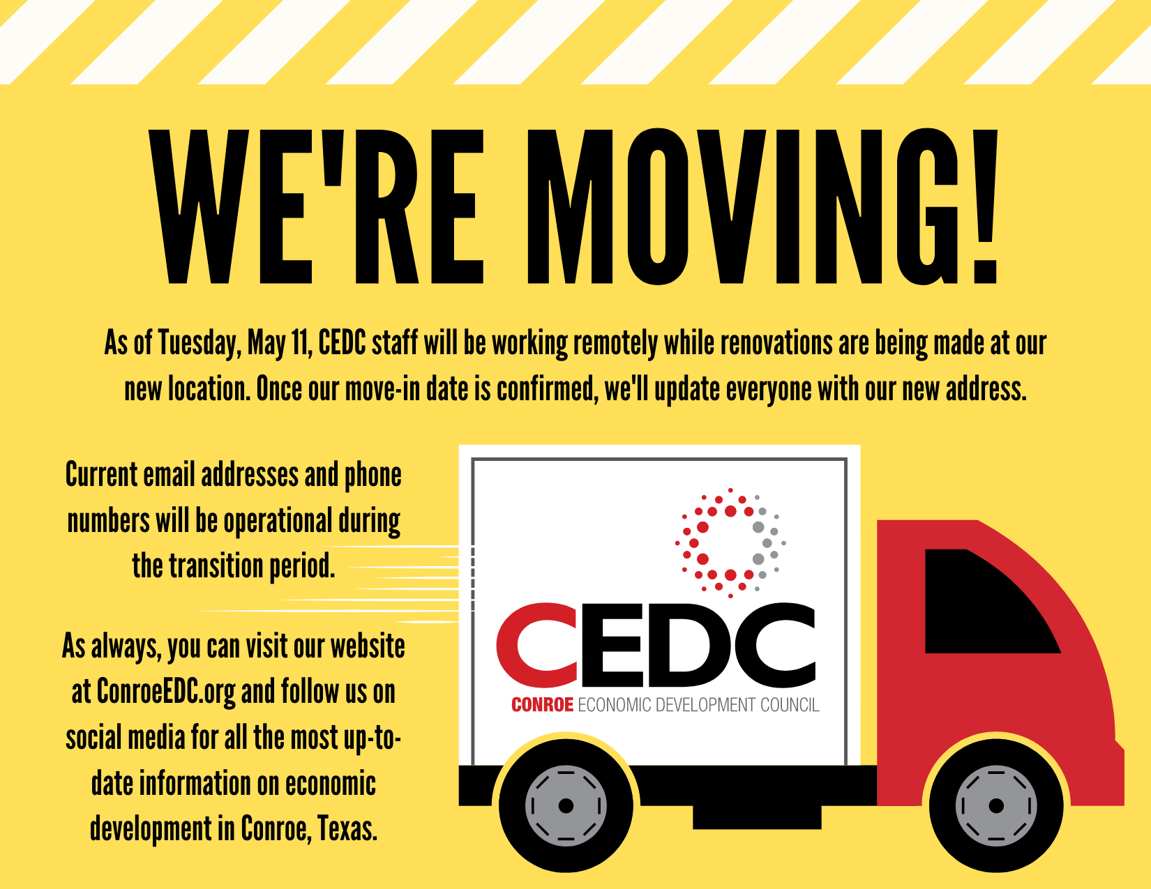 CEDC Changing Office Location Main Photo