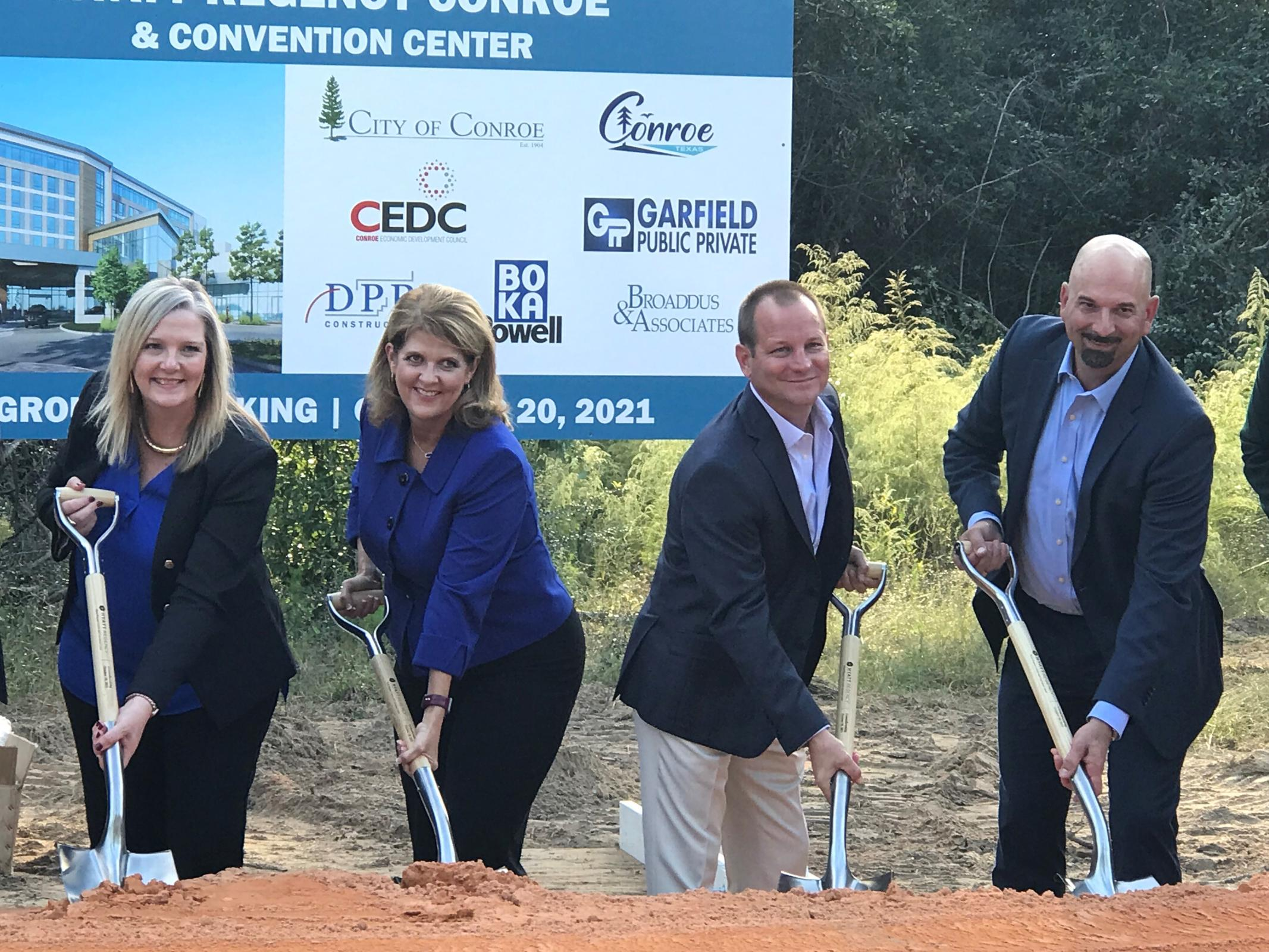 Groundbreaking Celebration Held for Hyatt Regency Conroe and Convention Center Photo - Click Here to See
