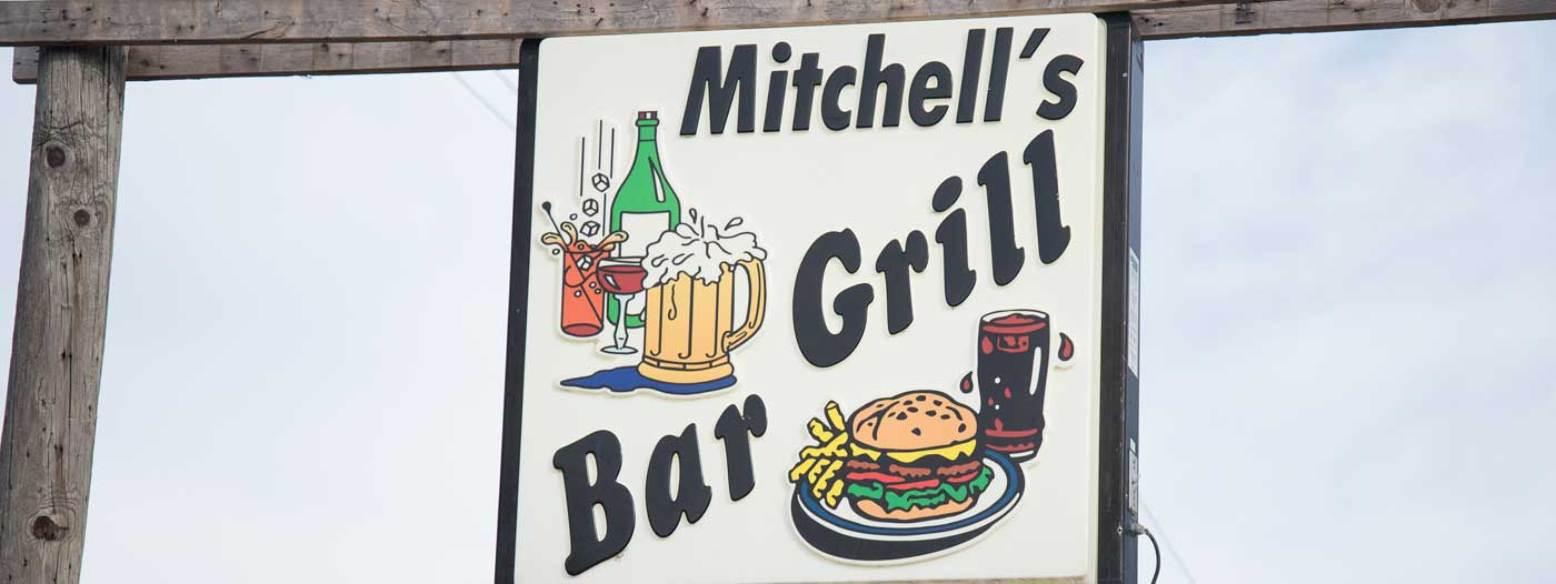 Mitchell's bar grill sign
