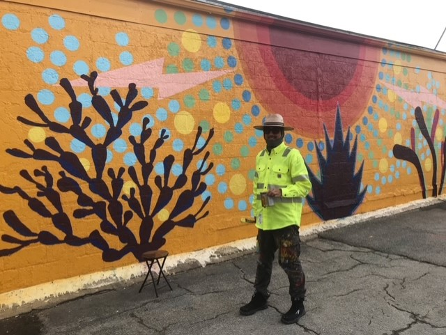 Click the Numerous murals popping up in Pasadena's Shaw District Slide Photo to Open