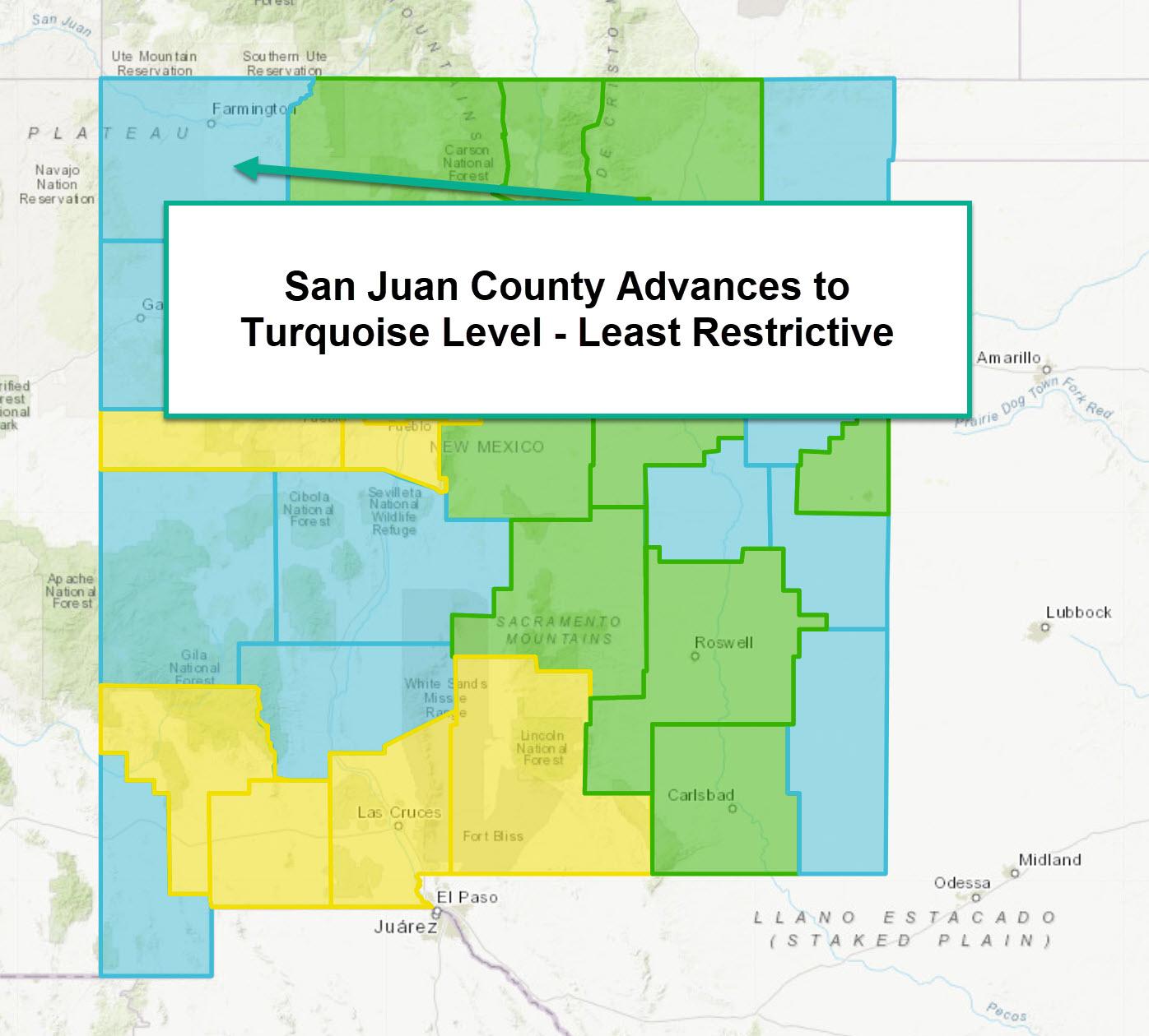 SJ County Advances to Turquois Level - COVID Receding Main Photo