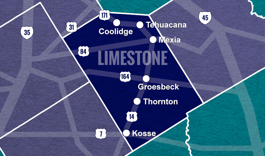 Limestone County, TX map