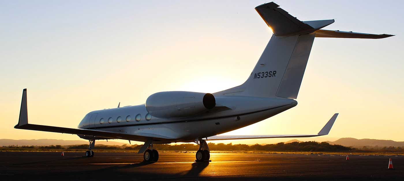 commuter jet on a runway