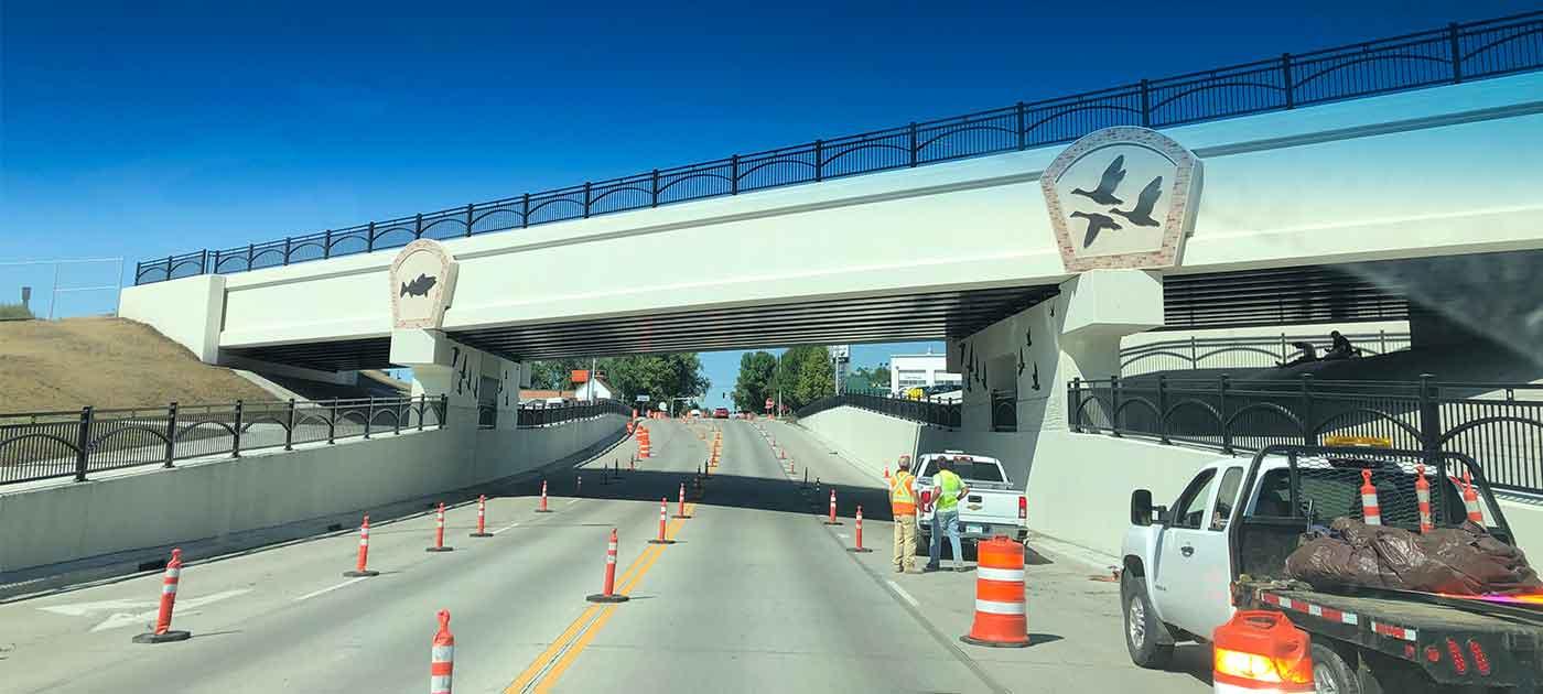 infrastructure upgrades under new highway bridge