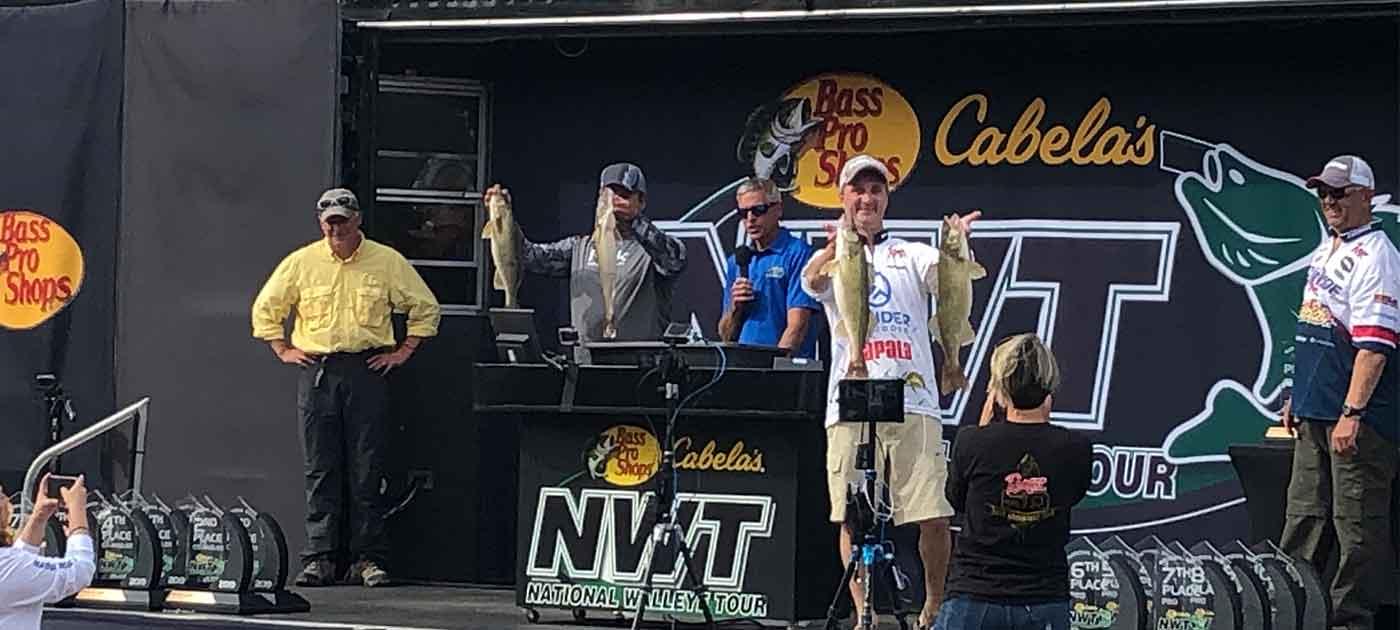 awards ceremony at Cabela's fishing tournament