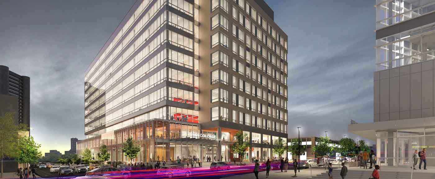 concept art of new building exterior