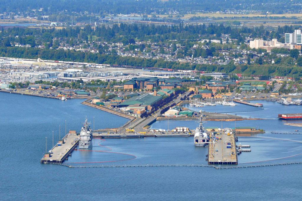 Naval Station Everett Pier aerial view