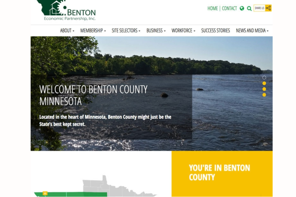 Click the Benton Economic Partnership Launches New Website to Highlight Area's Economic Assets Slide Photo to Open