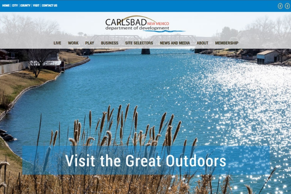 Click the New Website Demonstrates Carlsbad's Business Opportunities Slide Photo to Open