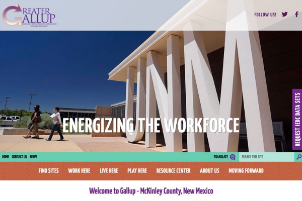 New Website Showcases Gallup-McKinley County's Business Advantages Main Photo