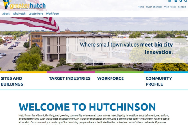 New Websites Emphasize Hutchinson's Many Assets Main Photo