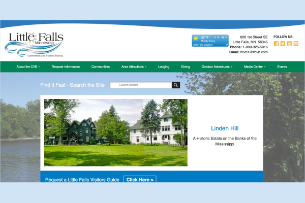 Click the Little Falls Convention & Visitors Bureau Launches New Website Slide Photo to Open