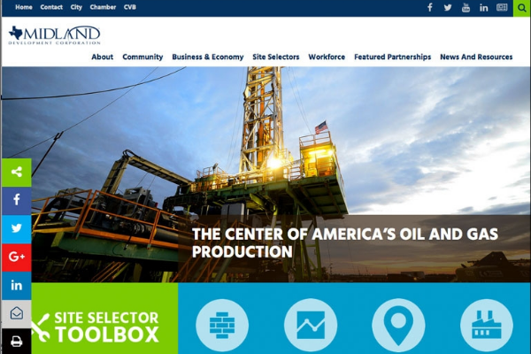 Click the Midland Development Corporation Launches New Website Slide Photo to Open