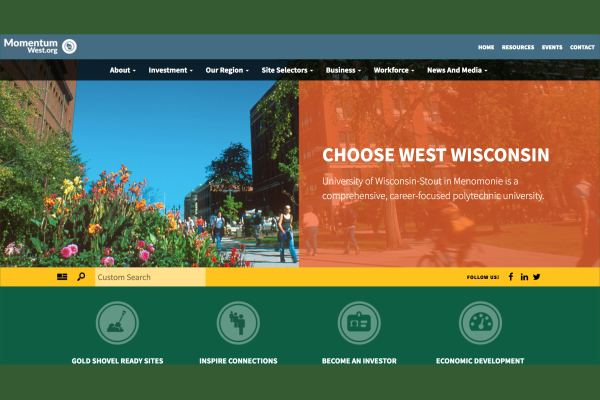 Click the New Website Aims to Attract Business and Talent to Momentum West Region Slide Photo to Open