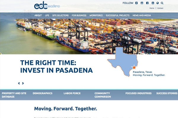 Click the New Website Illustrates Development Opportunities in Pasadena, TX Slide Photo to Open