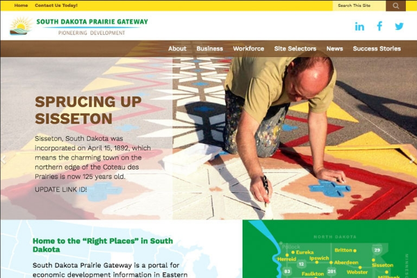 Click the South Dakota Prairie Gateway Site Showcases Opportunities Slide Photo to Open