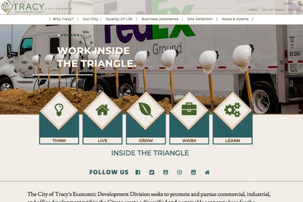 Click the City of Tracy Launches Comprehensive New Economic Development Website Slide Photo to Open