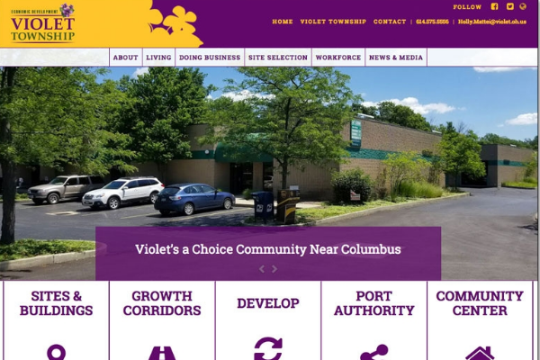 Click the Violet Township's State of the Art Website Aims to Attract Industry Slide Photo to Open