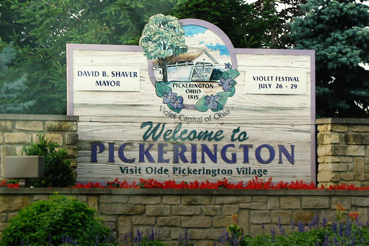pickerington oh welcome sign