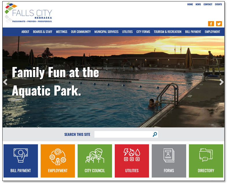Falls City Launches Redesigned Website Main Photo