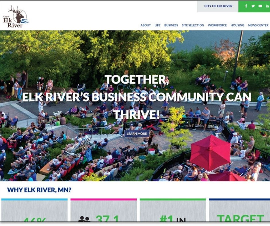 City of Elk River Launches Redesigned Website Main Photo