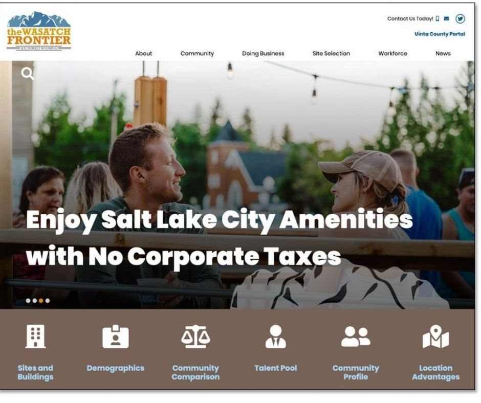 City of Evanston, WY Launches Redesigned Website Main Photo