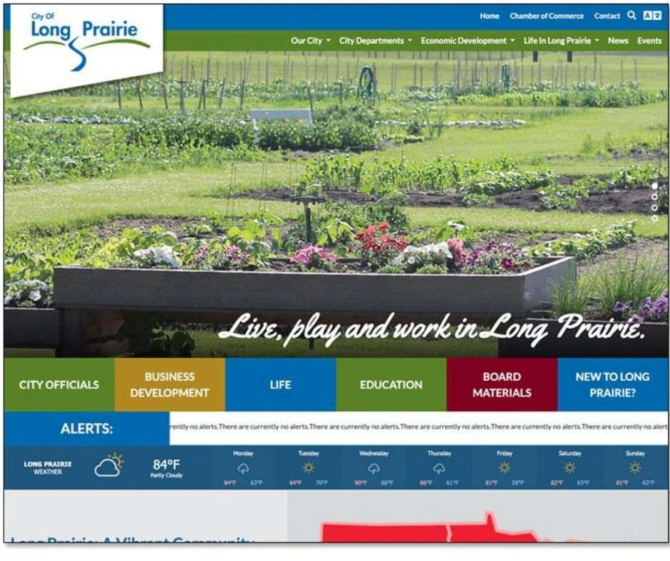 City of Long Prairie Launches Newly Designed Website Main Photo