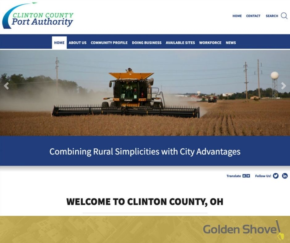 Clinton County Port Authority Launches Newly Designed Website Main Photo