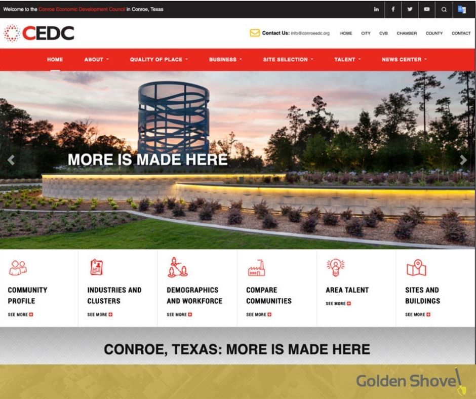Conroe Economic Development Council Launches Newly Designed Website Main Photo