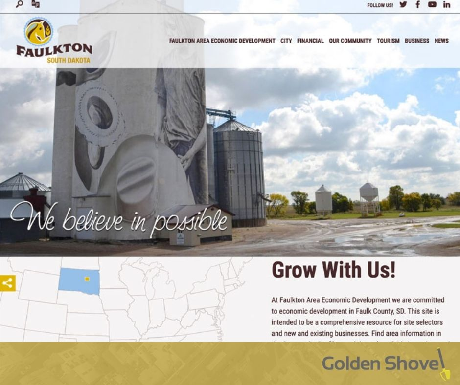 Faulkton Area Economic Development Launches Newly Designed Website Main Photo