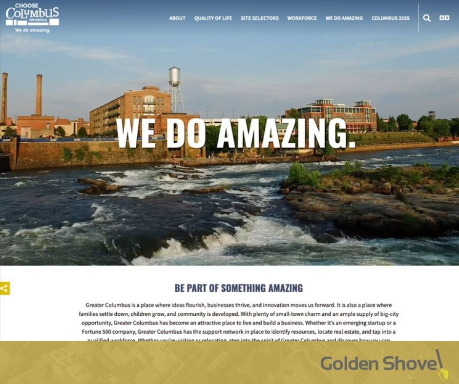Greater Columbus Georgia Chamber of Commerce Economic Development Launches Newly Redesigned Website Main Photo