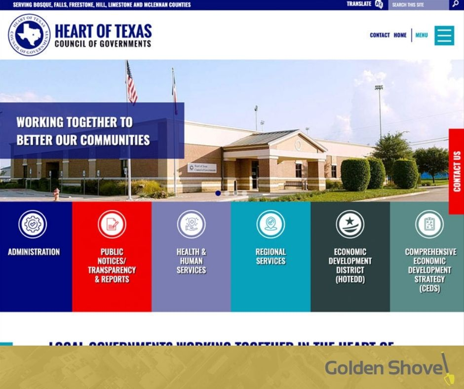 Heart of Texas Council of Governments Launches Newly Designed Website Main Photo