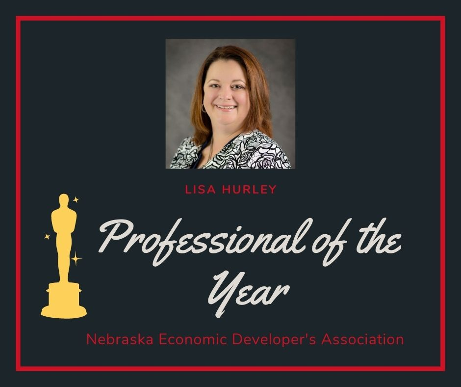Lisa Hurley Awarded Professional of the Year Award at Nebraska Economic Developers Association Annual Conference Main Photo