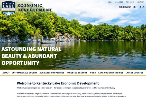 Click the New Website Highlights Kentucky Lake's Business & Industry Assets Slide Photo to Open