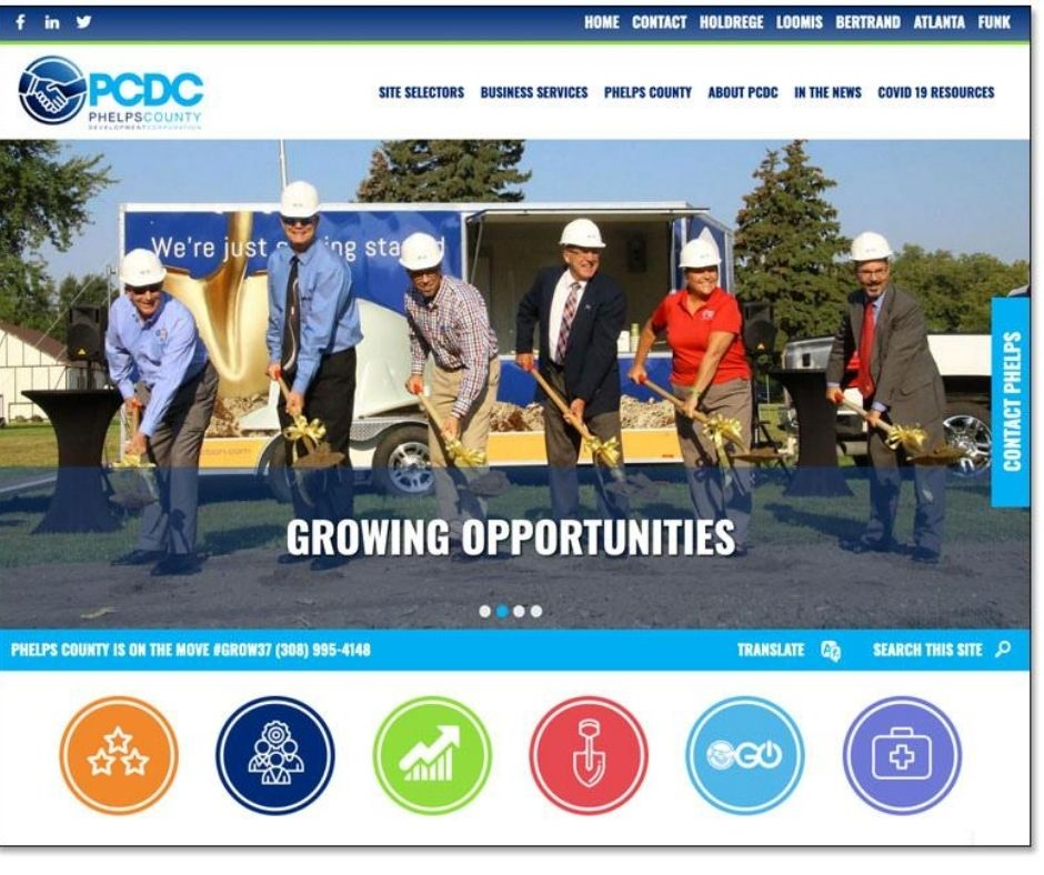 Phelps County Development Corporation Launches Redesigned Website Main Photo