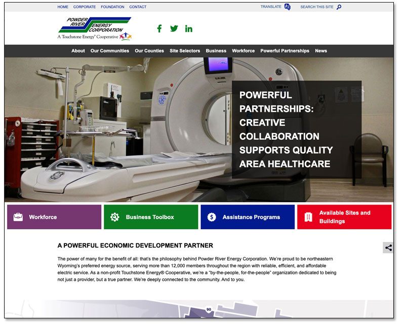 Powder River Energy Corporation Launches Redesigned Website Main Photo