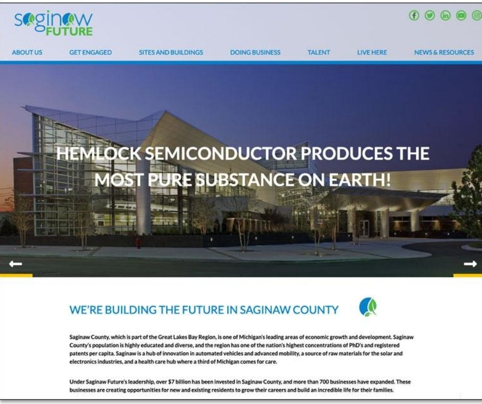 Saginaw Future Inc. Recently Launches Newly Designed Website Main Photo